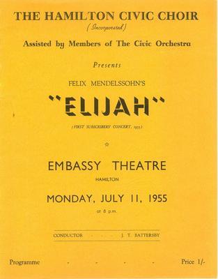 Elijah, 1955