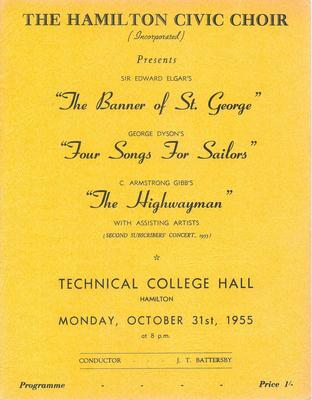 Second Subscribers' Concert, 1955