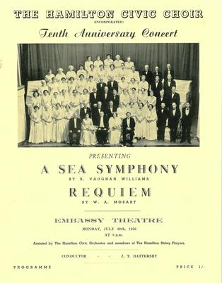 Tenth Anniversary Concert, 1956