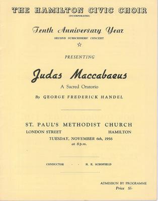 Judas Maccabaeus, 1956