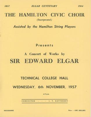 Concert of works by Elgar, 1957
