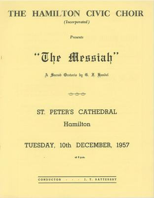 Messiah, 1957