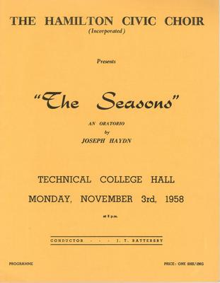 The Seasons, 1958