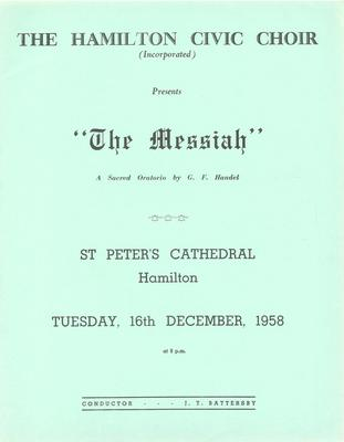 Messiah, 1958