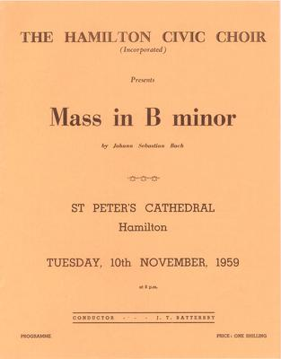 Mass in B minor, 1959