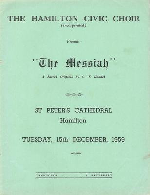 Messiah, 1959