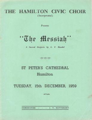 Messiah, 1959