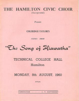 The Song of Hiawatha, 1960