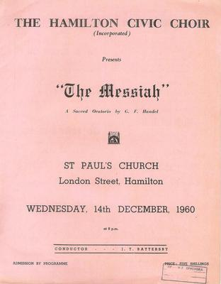 Messiah, 1960
