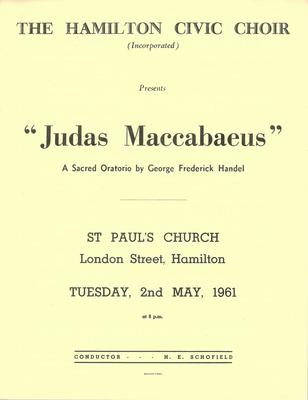Judas Maccabaeus, 1961