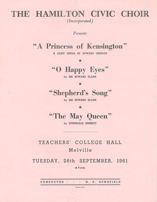 Concert of English Composers, 1961