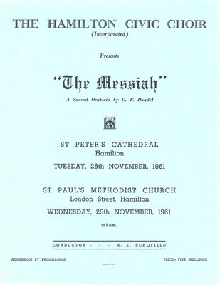 Messiah, 1961