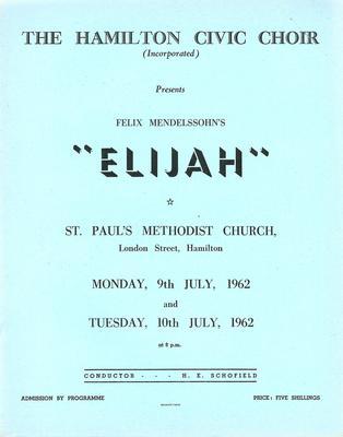 Elijah, 1962