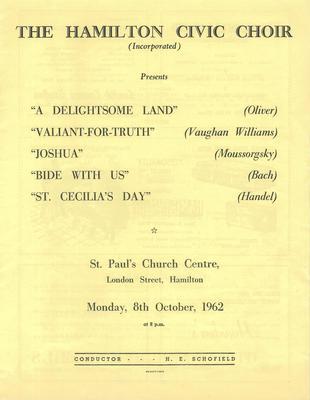 October Concert, 1962