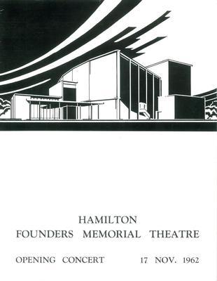 Founders Memorial Theatre Opening Concert, 1962