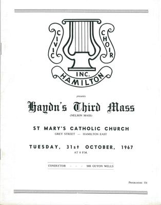 Haydn's Third Mass, 1967