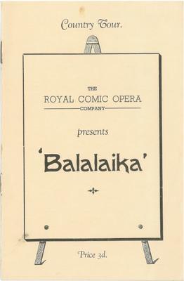 Balalaika, 1938