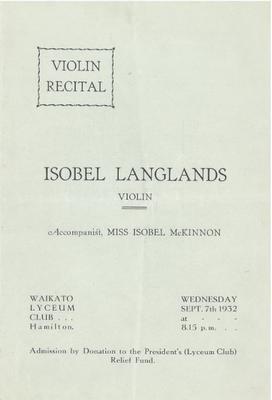 Isobel Langlands, 1932