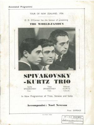 Spivakovsky-Kurtz Trio, 1936