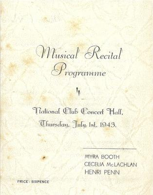 Musical Recital, 1943
