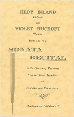 Sonata Recital, 1945