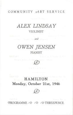 Alex Lindsay & Owen Jensen, 1946