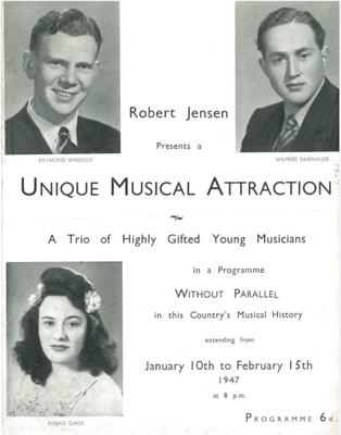 Unique Musical Attraction, 1947