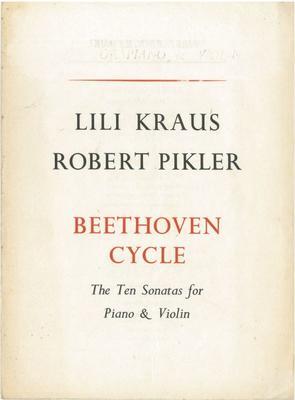 Lili Kraus & Robert Pikler, 1947