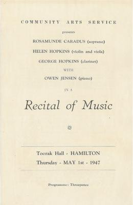 Recital of Music, 1947