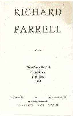 Richard Farrell, 1948