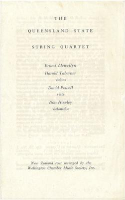 Queensland State String Quartet, 1948