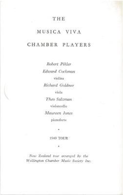 Musica Viva Chamber Players, 1949