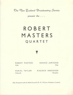Robert Masters Quartet, 1950