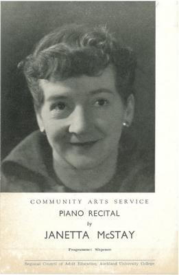 Janetta McStay, c1954