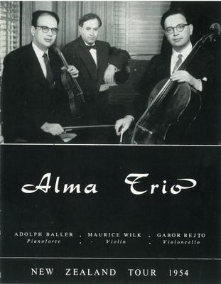 Alma Trio, 1954