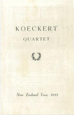 Koeckert Quartet, 1955