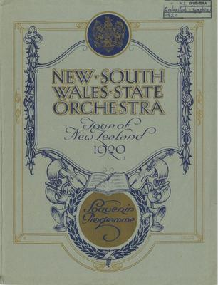 New South Wales State Orchestra, 1920