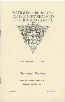 National Orchestra of the New Zealand Broadcasting Service, 1949