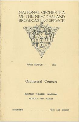 National Orchestra of the New Zealand Broadcasting Service, 1955