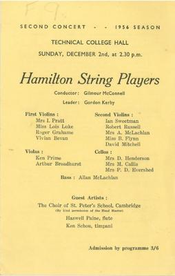 Hamilton String Players, 1956