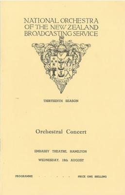 National Orchestra of the New Zealand Broadcasting Service, 1959