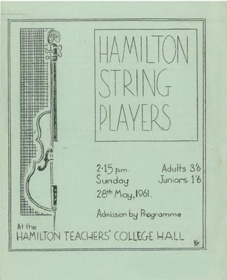 Hamilton String Players, 1961