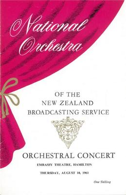 National Orchestra of the New Zealand Broadcasting Service, 1961