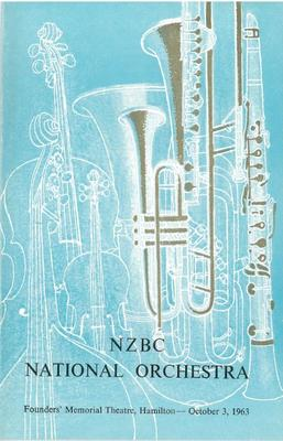 NZBC National Orchestra, 1963