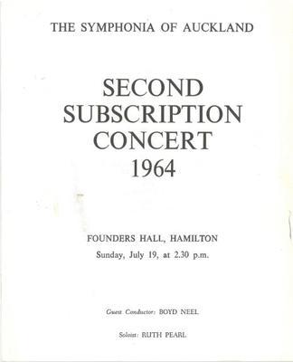 Symphonia of Auckland, 1964