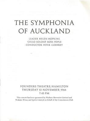 Symphonia of Auckland, 1966