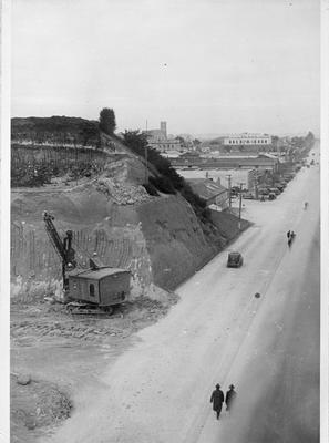 Excavating Garden Place Hill