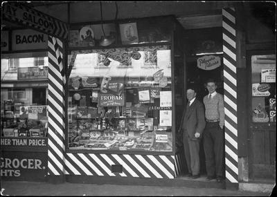 Saloon hairdresser and tobacconist in Ward Street