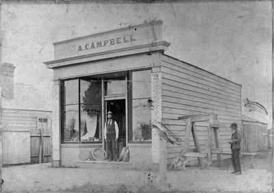 Angus Campbell's store in Hamilton East