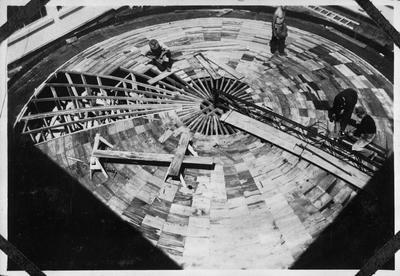 Chief Post Office dome under construction